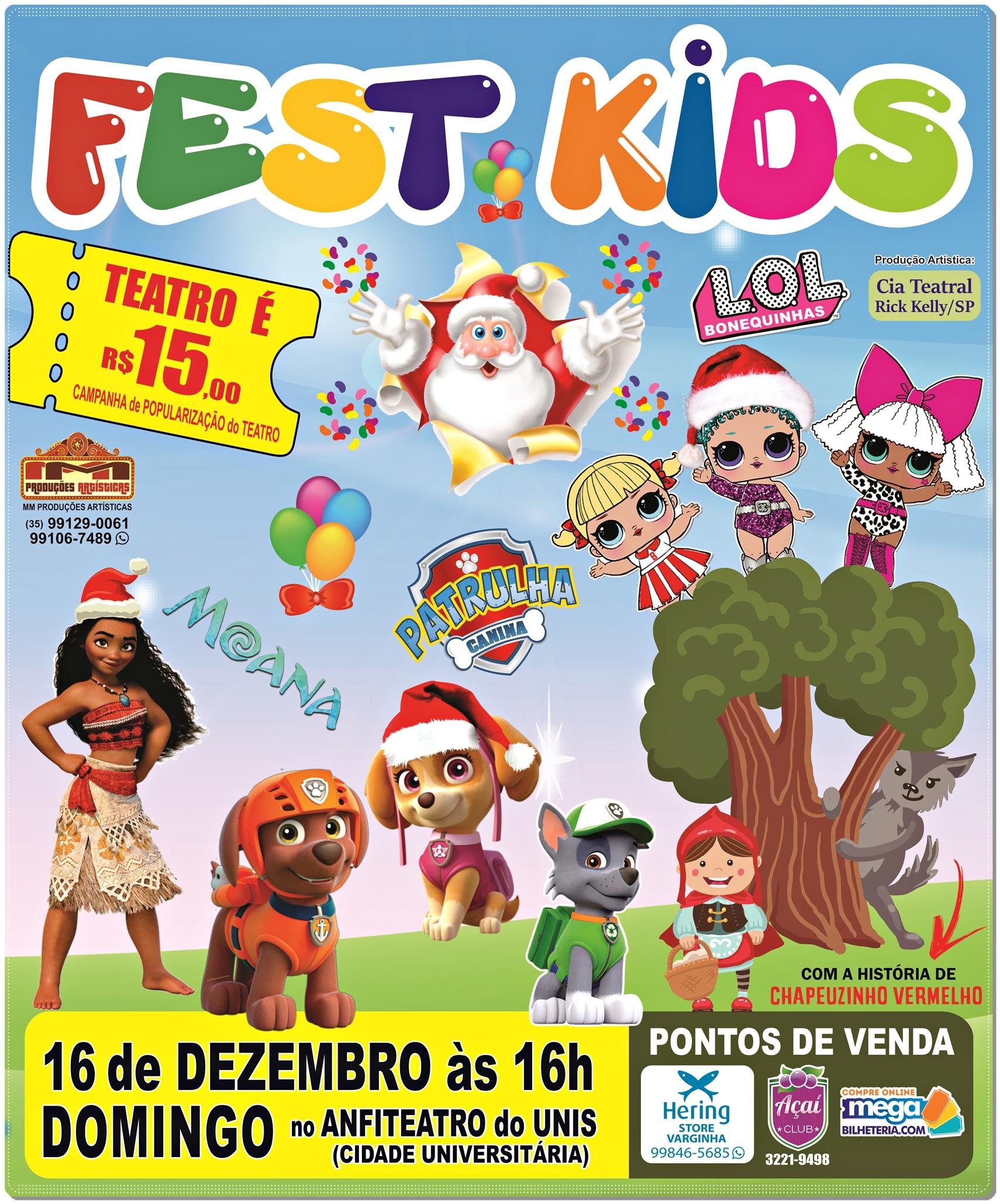 Fest Kids Famosos Personagens Dos Desenhos Infantis Em Uma